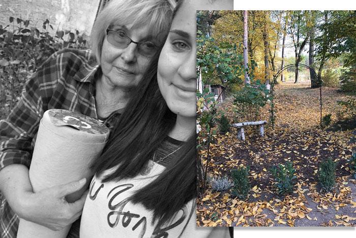 Le magnifique jardin commémoratif créé pour ma mère