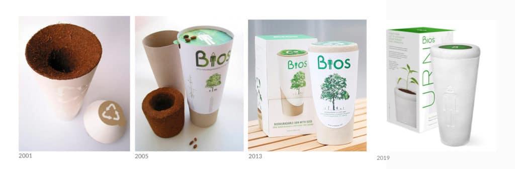 Bios Urn prototypes / Les 20 ans d'Urne Bios®