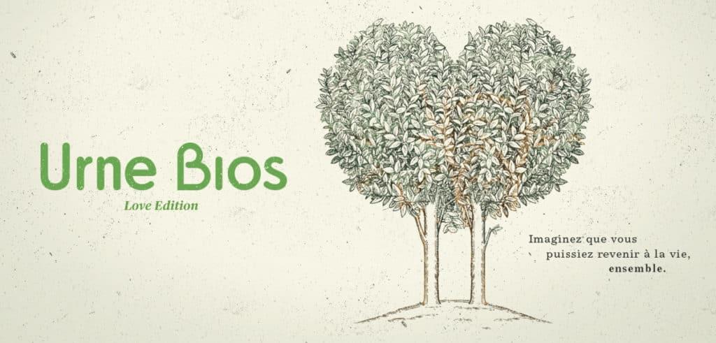 Urne Bios Love - urnes funéraires duo pour deux personnes qui transforment en arbre